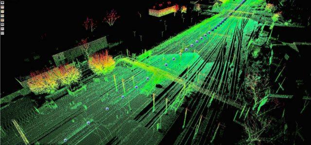 Wizualizacja chmury punktów w reflection / Most Kolejowy w Uhowie